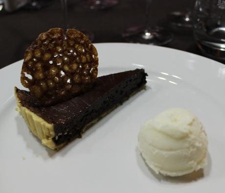 chocolate and magiun de prune tart